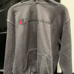 gray champion hoodie